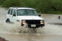 Driving rain soaked roads in Baja following a tropical cyclone