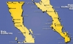 Map of the Baja California Peninsula of Mexico