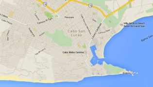 Map of Cabo San Lucas, Baja California Sur, Mexico
